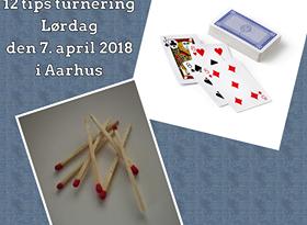 12 TIPS – OP&NED turnering lørdag d. 7. april i Aarhus Døveforeningens lokal i Viby J.  –  Tryk her.